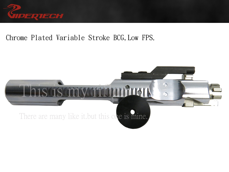 Viper Chrome Plated Variable Stroke BCG, Low FPS