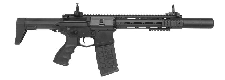 G&G PDW15-CQB Full Metal AEG Electric Rifle - Black