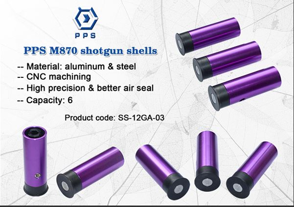 PPS GAS/C02 Metal Shells for PPS M870 Shotgun - Pack of 5