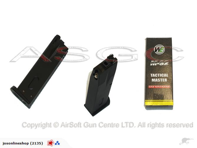 WE Beretta M92 Gas Magazine Black