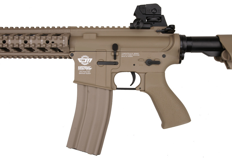 G&G Combat Machine CM16 Raider-L DST AEG Electric Rifle - Tan