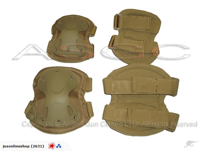Wolf Force Tactical X Shape Knee & Elbow Pads Set - TAN