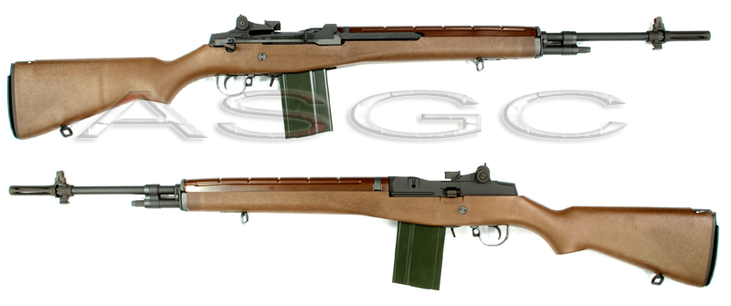 WE M14 Full Metal Open Bolt Gas Blow Back Rifle - Wood Replica