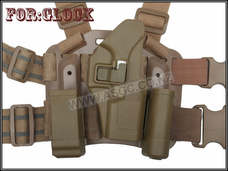 China Made Glock CQC Holster Tan