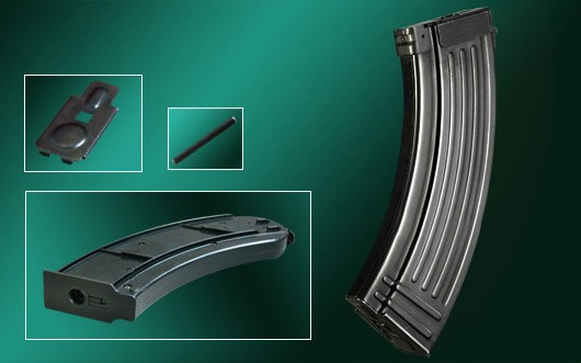 Real Sword AK 150 rds real steel standard magazine