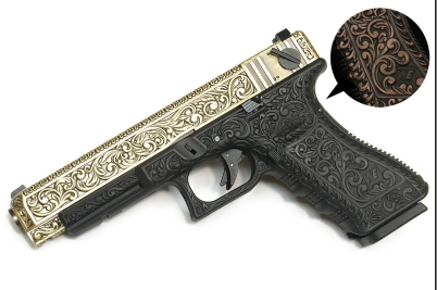 WE G35 Classic Floral Pattern GBB Pistol (Bronze Version)