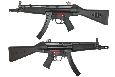 WE Stamped Steel Frame APACHE A2 SMG GBB (M5A5, Black)