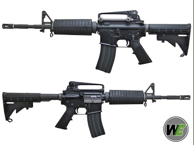 WE M4A1 Sport Line Polymer AEG Rifle - Black