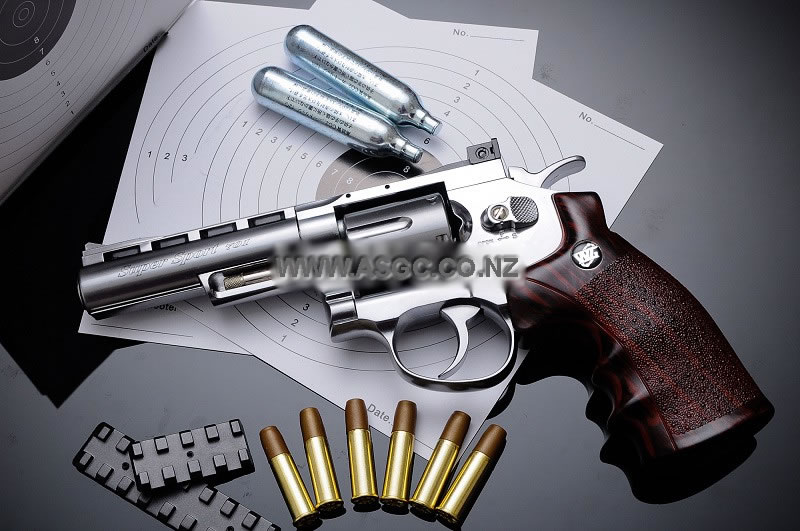 "WinGun 4"" Full Metal CO2 Revolver - Silver (701S)"