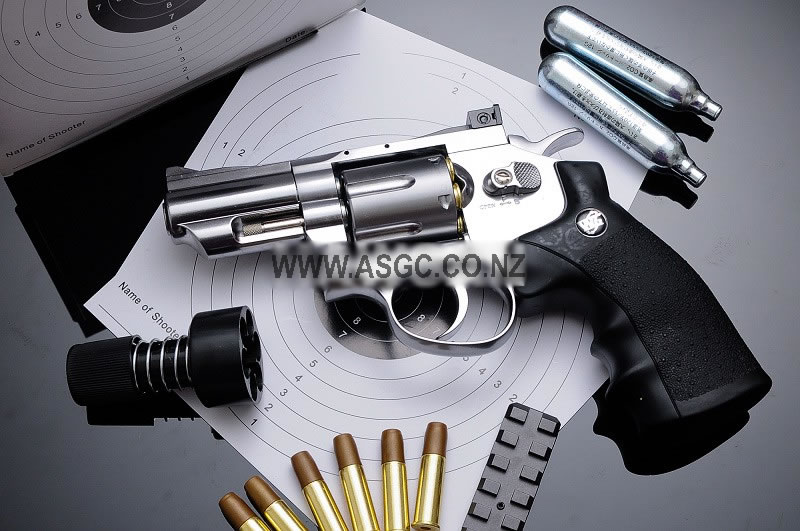 "WinGun 2.5"" Full Metal CO2 Revolver - Silver (708S)"