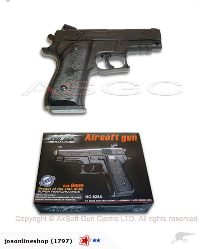 LINDA Airsoft Metal Pistol - NO.828A
