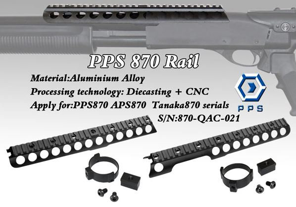 PPS Top Rail mount for PPS M870 Shotgun