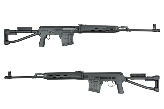 A&K SVD-S Bolt Action Rifle, Folding Stock