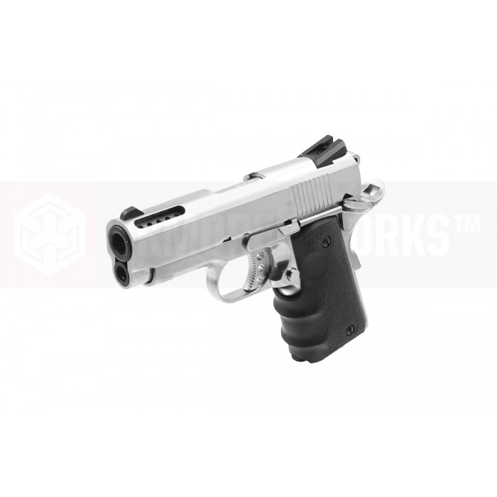 AW NE1001 Officer Compact 1911 GBB Pistol - Silver
