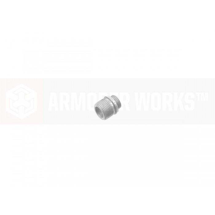 Armorer Works Thread Adaptor for +11mm to -14mm - Silver