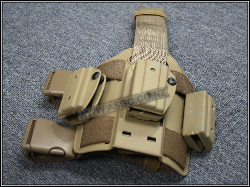 CM CQC Drop Leg Mag Pouch for Mp5 TAN