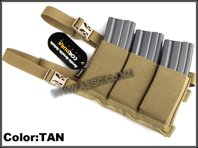 CM Six Pack Magazine Pouch / Bandolier - Coyote Tan