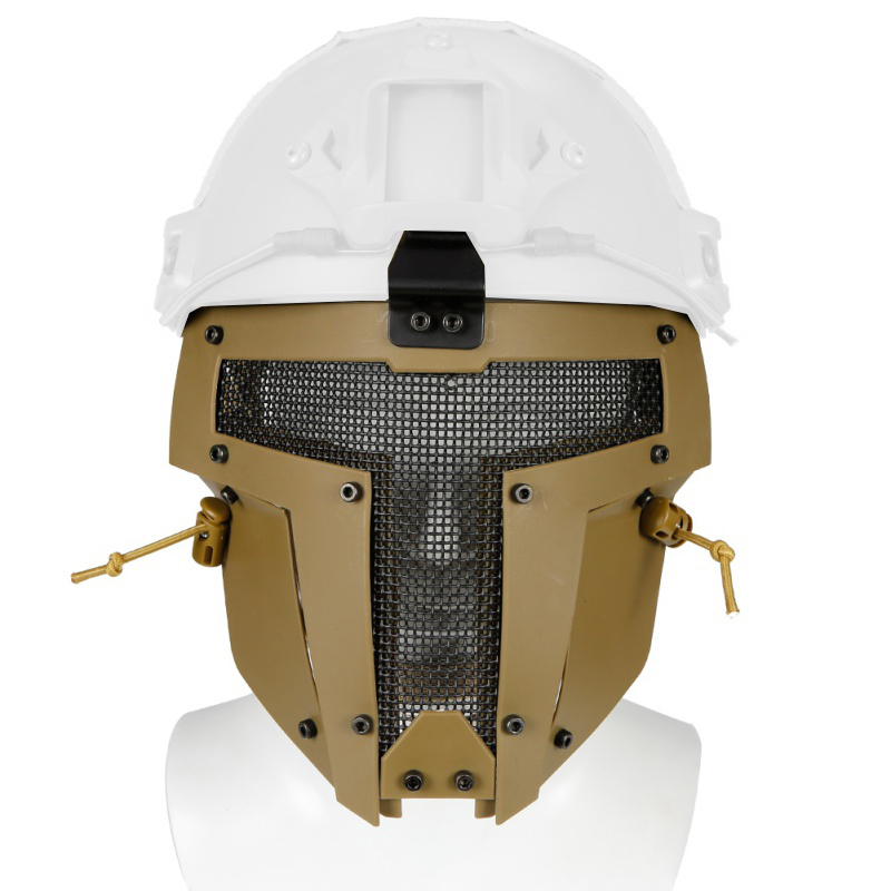 EmersonGear Iron Warrior Mask for FAST Helmets - Mesh, Tan