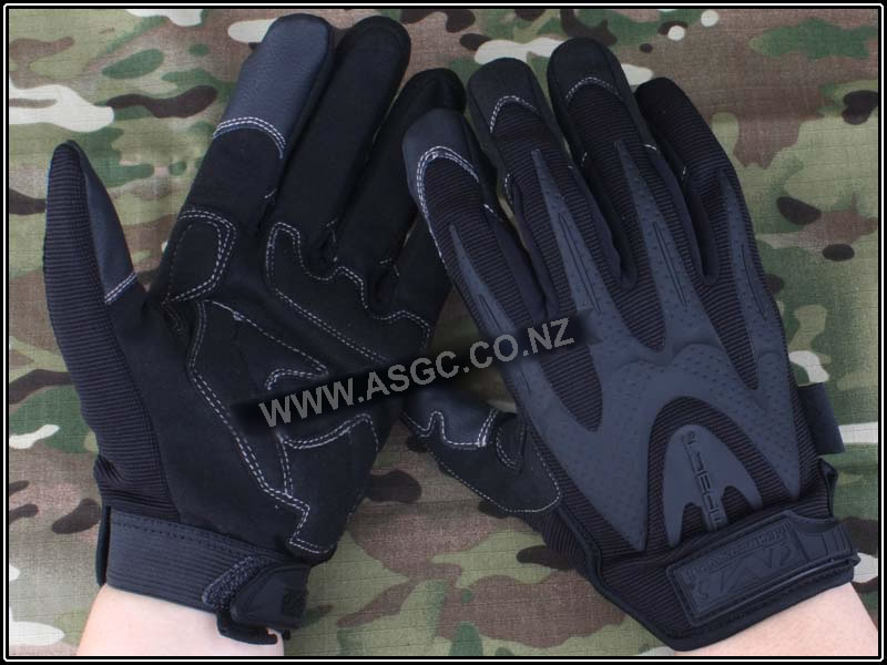 M-Pact Series Full Finger Tactical Gloves Black M