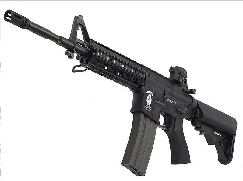 G&G Combat Machine CM16 Raider-L AEG Electric Rifle - Black