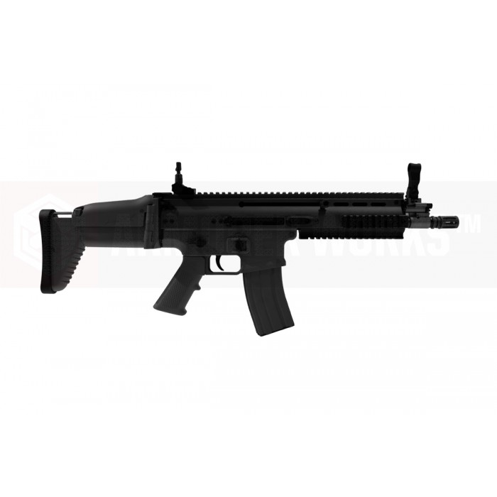 Cybergun / WE-Tech FN Scar-L MK16 CQC Gas Blowback Rifle - BK