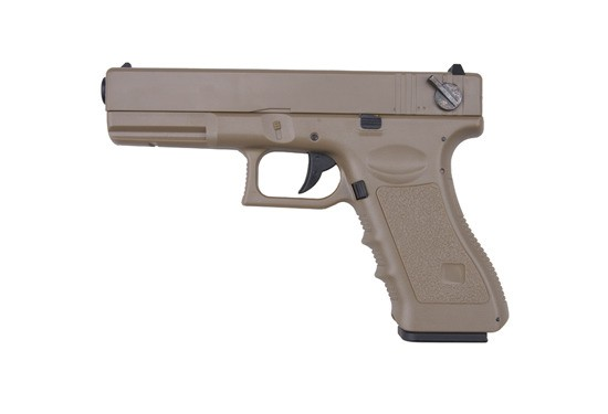 CYMA GLOCK G18C SEMI/FULL AUTO Electric Pistol AEP (Tan)