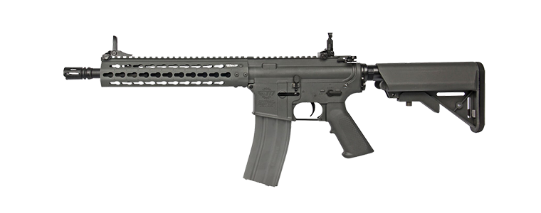 "G&G CM15 KR-Carbine 10"" Electric AEG Rifle - Battleship Grey"
