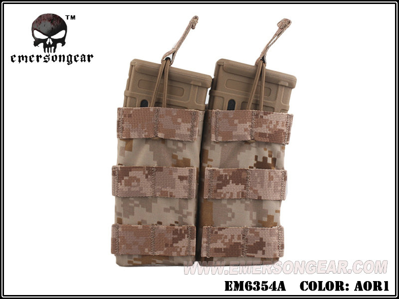 Emerson Modular Open Top Double Mag Pouch for M4 - AOR1