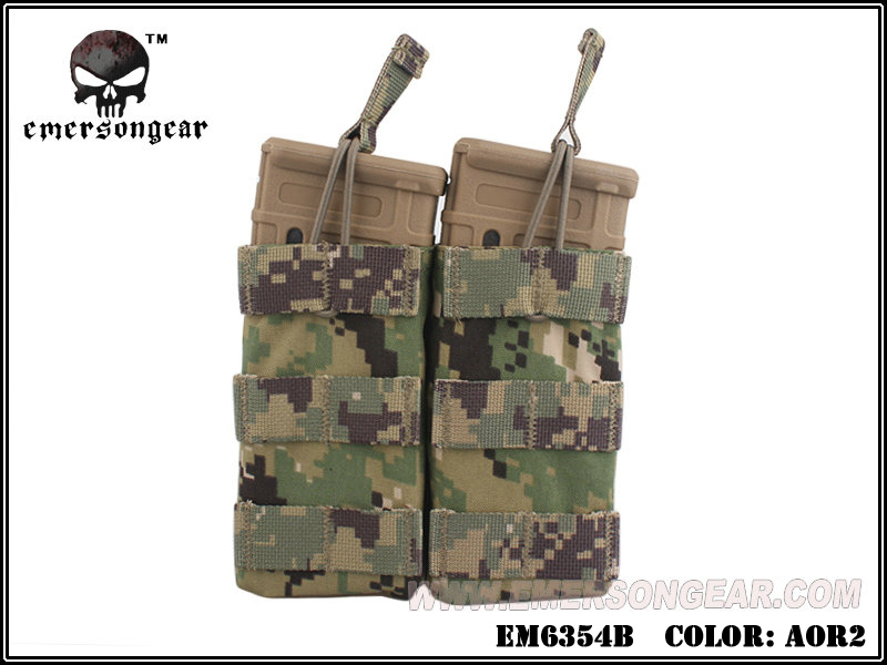 Emerson Modular Open Top Double Mag Pouch for M4 - AOR2