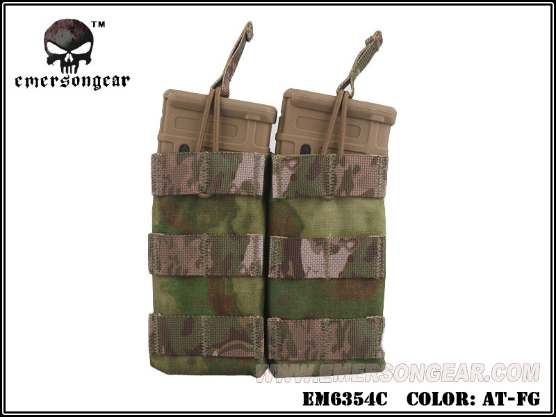 Emerson Modular Open Top Double Mag Pouch for M4 - AT-FG