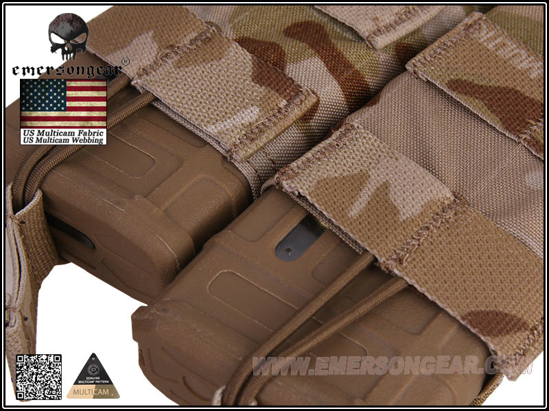 Emerson Modular Open Top Double Mag Pouch for M4 - Multicam Arid