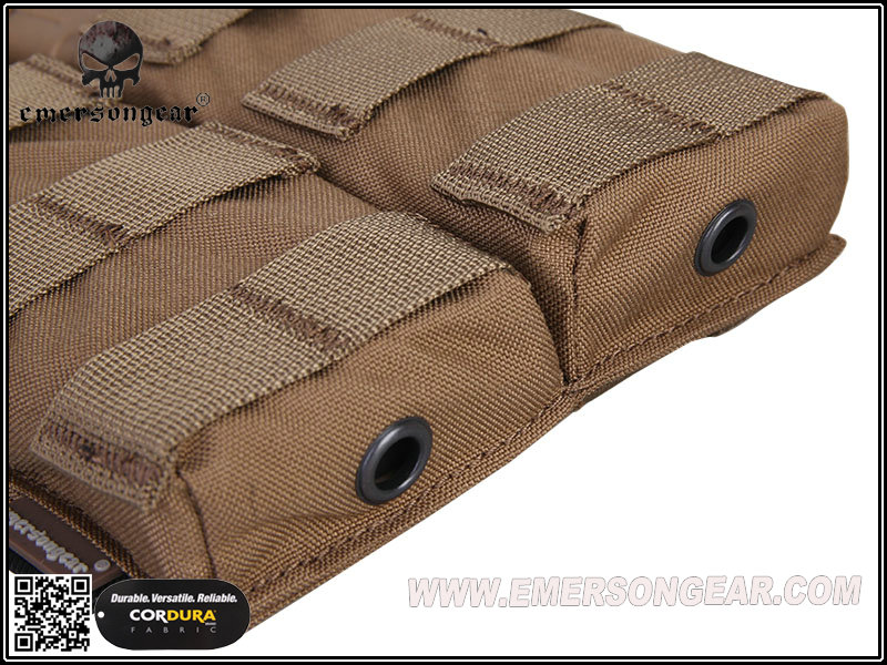 Emerson Modular Open Top Double Mag Pouch for M4 - Coyote Brown
