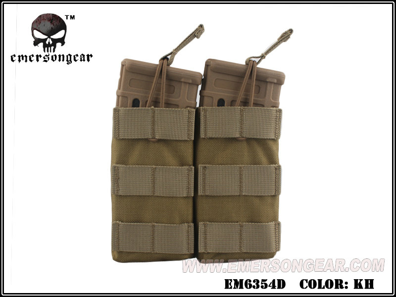 Emerson Modular Open Top Double Mag Pouch for M4 - Khaki