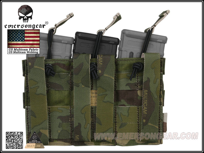 Emerson Modular Triple Open Top Magazine Pouch - Multicam Tropic