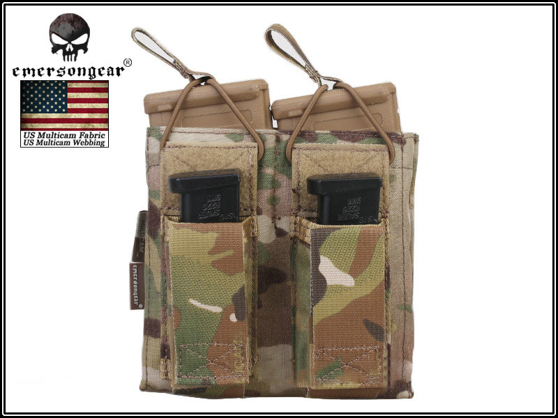 EMERSON Double Open Top 5.56 Rifle and Pistol Magazine Pouch