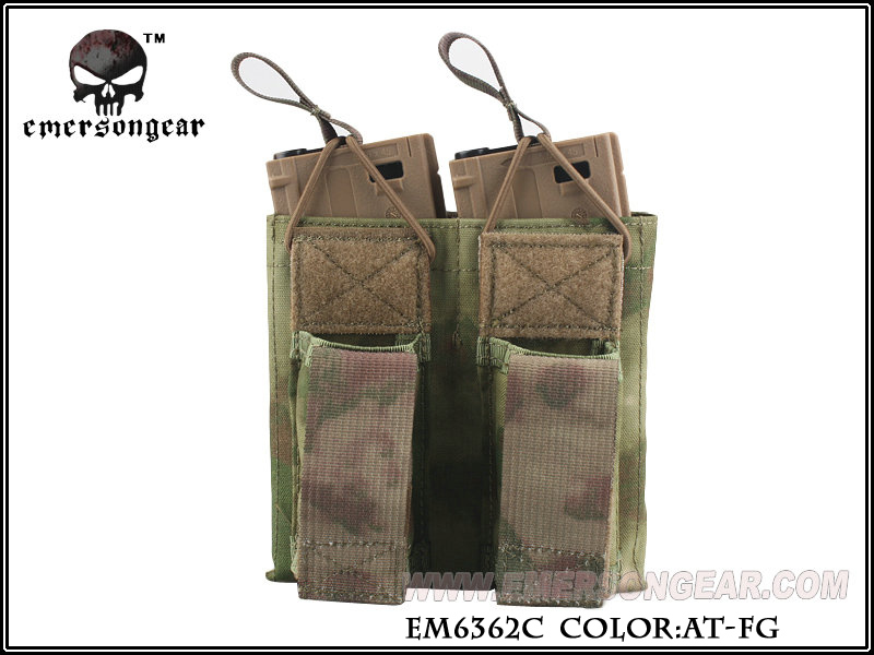 Emerson 5.56 & Pistol Double Open Top Magazine Pouch - AT-FG
