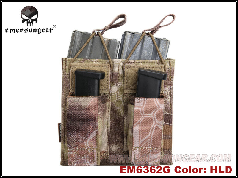 Emerson 5.56 & Pistol Double Open Top Magazine Pouch - HLD