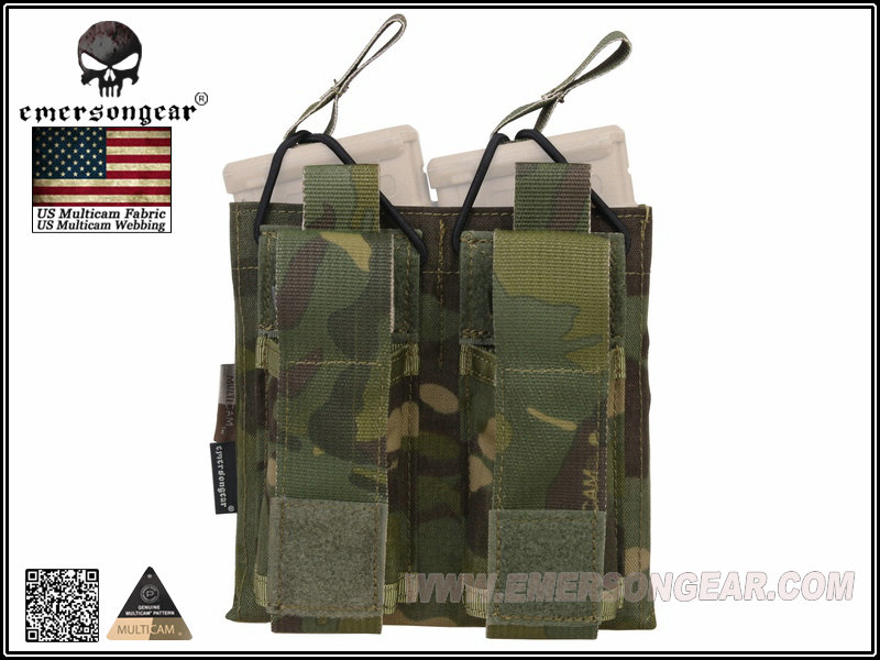 Emerson 5.56 & Pistol Double Open Top Mag Pouch- Multicam Tropic