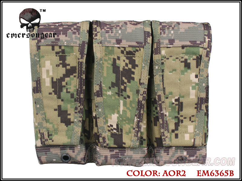 Emerson CP Style Triple 5.56 Rifle Magazine Pouch - AOR2