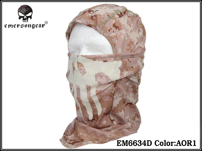 Emerson GHOST Multi Hood Scarf Balaclava with Skull - AOR1