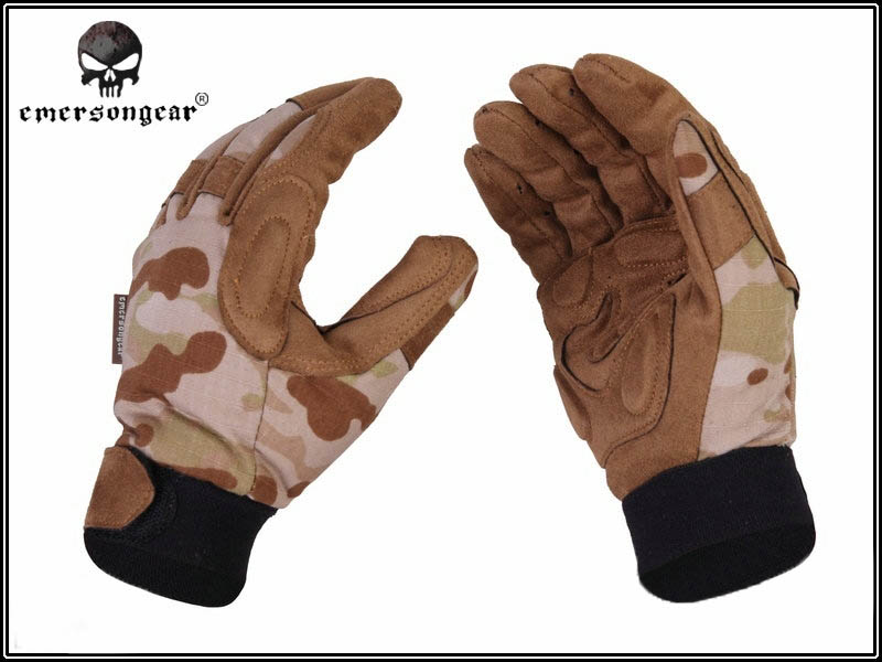 Emerson Tactical Lightweight Camo Gloves - Multicam Arid - Small