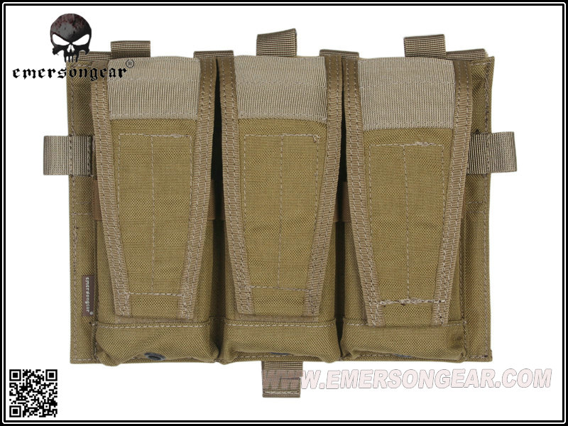 Emerson CP Style Triple Mag Pouch Panel for AVS / JPC2.0 - Khaki