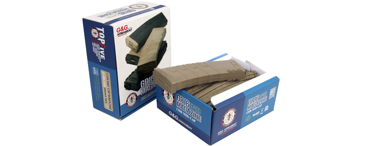 G&G 120R Mid-Cap Magazine for GR16 (Desert Tan)5pcs/pack