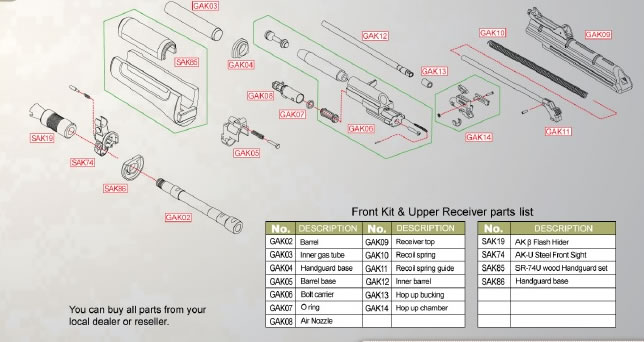 SRC AK GBB Parts #06 Bolt Carrier