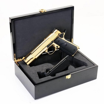 SRC SRV-12 1911 Full Metal GBB Pistol - 24K Gold, Luxury Version