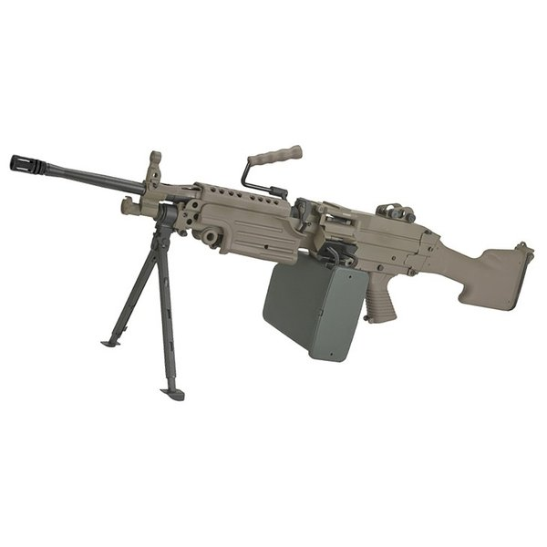 A&K M249 MKII Full Metal Airsoft AEG Machine Gun - DE