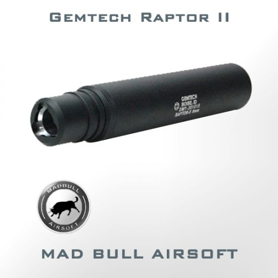 Madbull Gemtech Raptor-II Silencer / Suppressor (Fully Licensed)