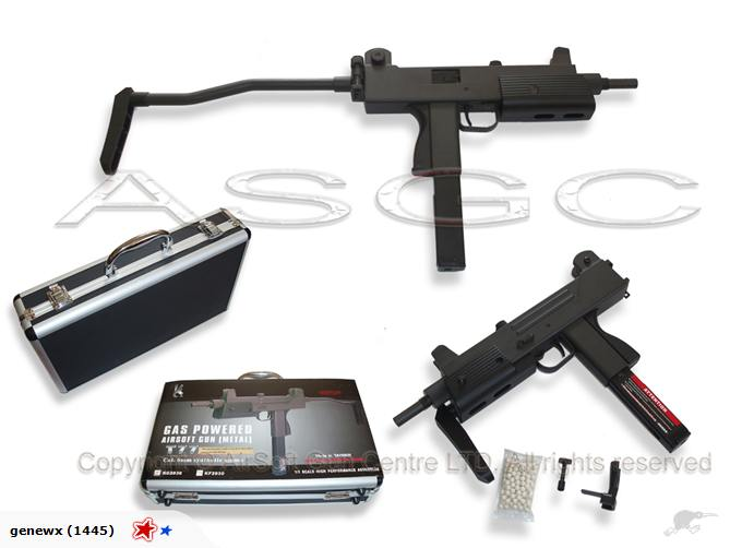 HFC T77 Full Metal Gas Blow Back SMG - Taiwan Made