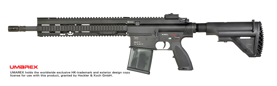 VFC (Umarex) HK417 Recon 16 inch AEG Rifle - Black