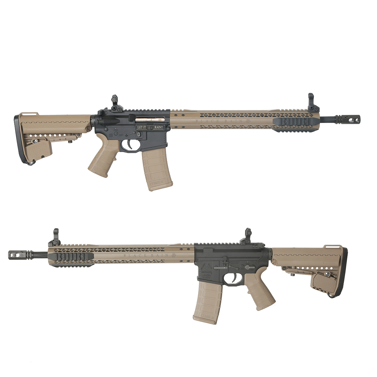 King Arms Black Rain Ordnance Licensed M4 custom AEG Rifle - DE